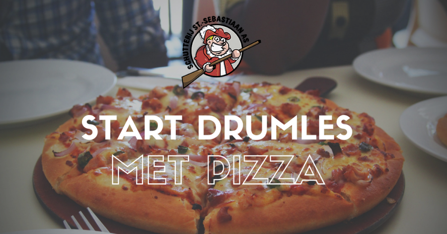 Start drumlessen op 15 september met pizza