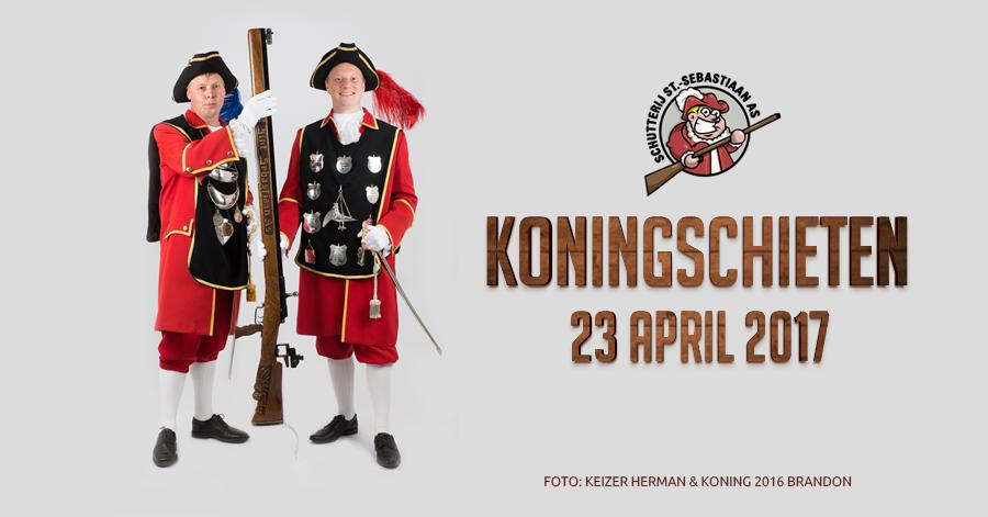 Koningschieten 2017 met live-muziek van Die Dampfknödel