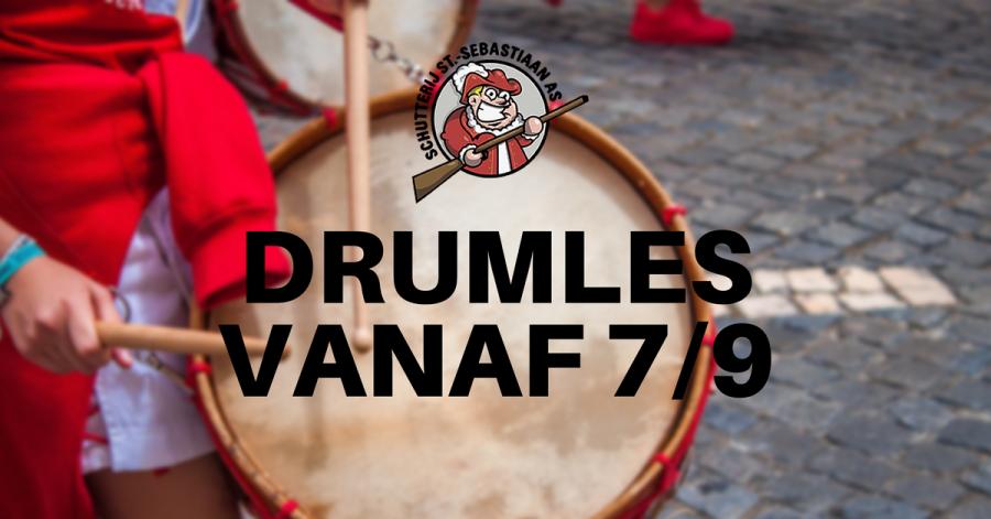 Drumlessen vanaf 7 september