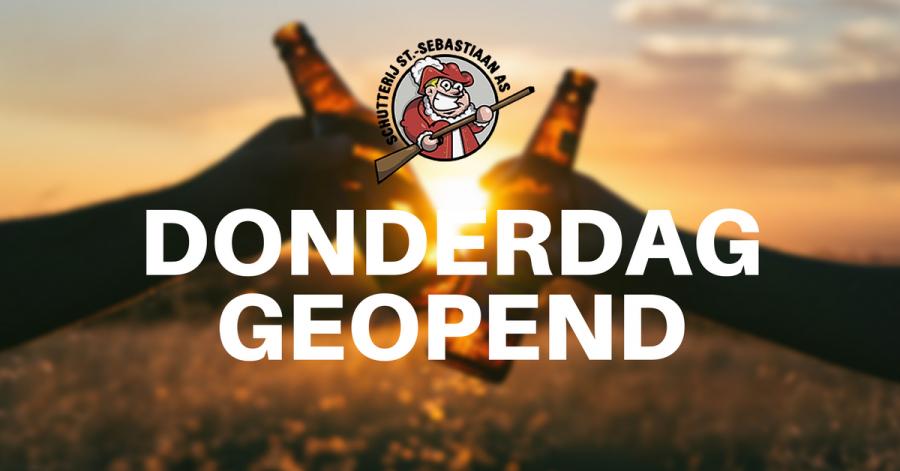 De schutterij is elke donderdag geopend (met nieuwe bierkaart)